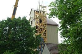 Anbau Treppenturm an Getreidesilo