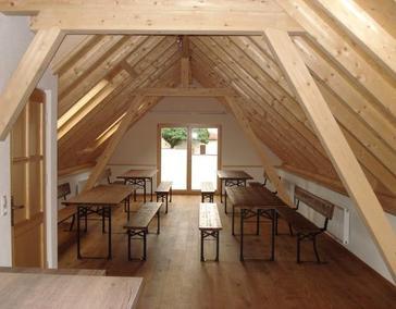 Werkstattdach mit neuer Nutzung