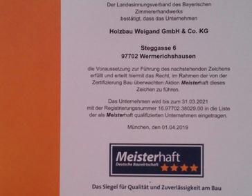 Meisterhaft-Re-Zertifizierung 2019