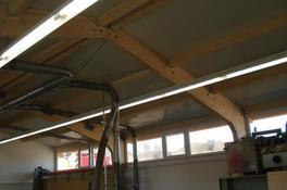 Neubau Gewerbehalle, Tragkonstruktion Holz
