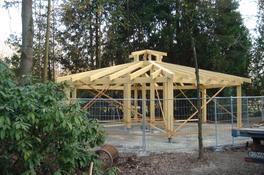 Errichtung Achteck-Pavillon